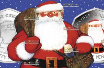 Гибралтар монета 50 пенсов Отец Рождества