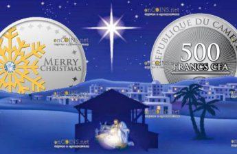 Камерун монета 500 франков КФА Первая звезда - с Рождеством