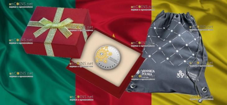 Камерун монета 500 франков КФА Первая звезда - с Рождеством, подарочная упаковка
