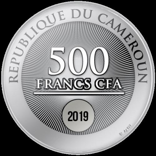 Камерун монета 500 франков КФА Первая звезда - с Рождеством, реверс