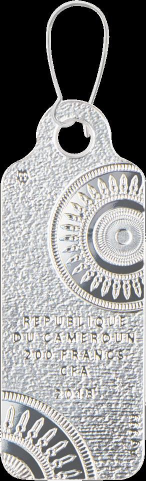 Камерун монета-сережка 200 франков КФА Царица Нефертити, аверс
