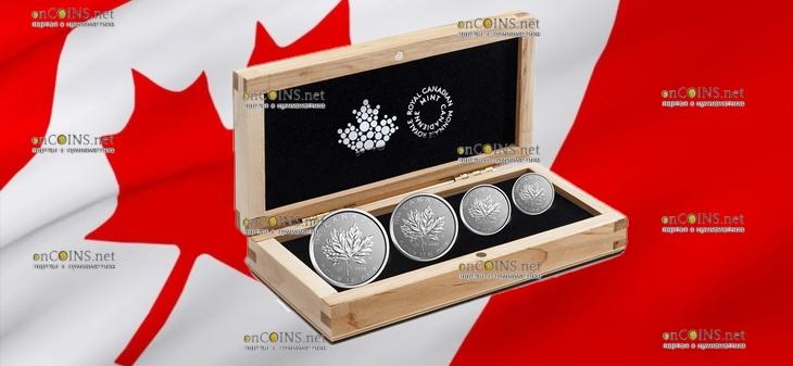Канада серия памятных инвестиционных монет Платиновый Кленовый лист 2018 год, подарочная упаковка