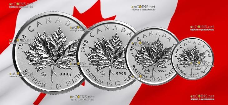 Канада серия памятных инвестиционных монет Платиновый Кленовый лист 2018 год
