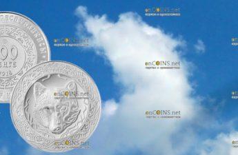 Казахстан монета 100 тенге Небесный волк