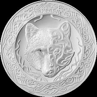 Казахстан монета 100 тенге Небесный волк, реверс