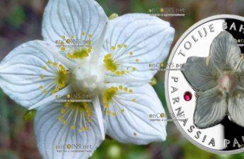 Ниуэ монета 1 доллар Белозор болотный