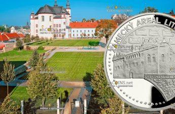 Ниуэ монета 50 долларов Сады и крепость Лимомишл