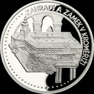 Ниуэ монета 50 долларов Сады и замок Кромержиж, реверс