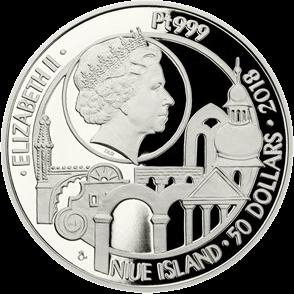 Ниуэ монеты серии Чешское наследие ЮНЕСКО 2018 год, аверс