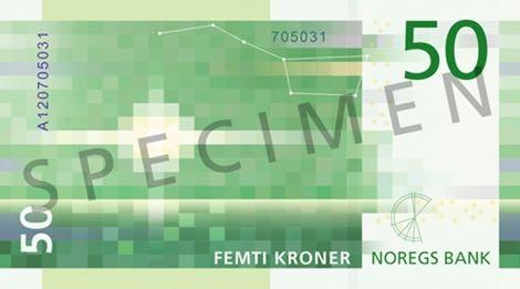 Норвегия банкнота 50 крон 2018 года, оборотная сторона