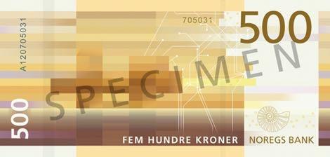 Норвегия банкнота 500 крон 2018 года, оборотная сторона