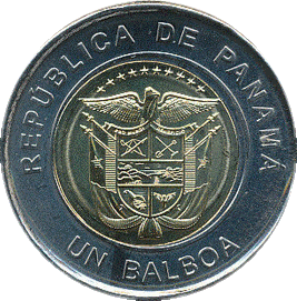 Панама монета 1 бальбоа, 2019 год, аверс