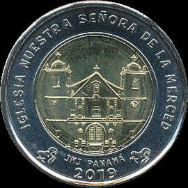 Панама монета 1 бальбоа Костел Нуэстра Сеньора-де-Ла-Мерсед, реверс