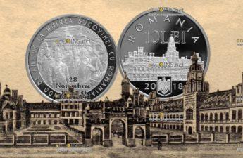 Румыния монета 10 лей 100-летие присоединения Буковины к Румынии