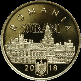 Румыния монета 50 бани 100-летие присоединения Буковины к Румынии, аверс