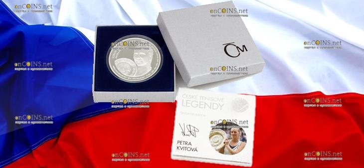 Самоа монета 2 доллара Петра Квитова, подарочная упаковка