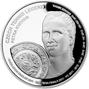 Самоа монета 2 доллара Петра Квитова, реверс