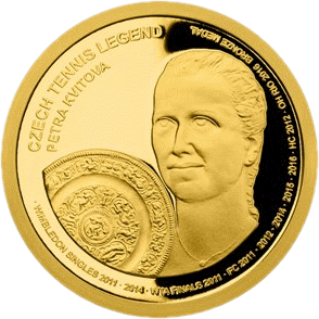 Самоа монета 25 долларов Петра Квитова, реверс