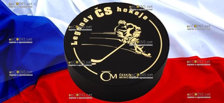 Самоа серия монет Легенды чешского хоккея