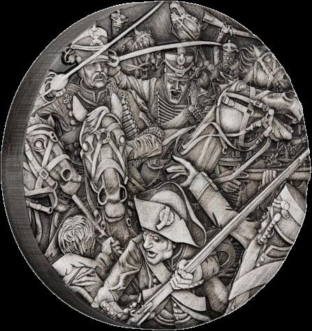 Тувалу монета 2 доллара Гусары, реверс