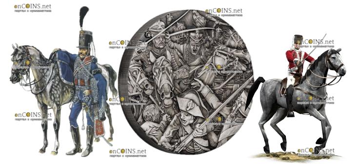 Тувалу монета 2 доллара Гусары