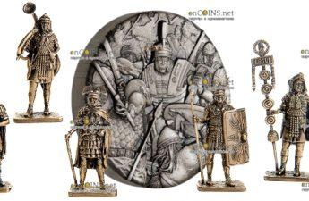 Тувалу монета 2 доллара Римский легион