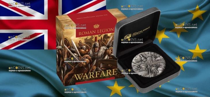 Тувалу монета 2 доллара Римский легион, подарочная упаковка