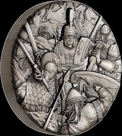 Тувалу монета 2 доллара Римский легион, реверс