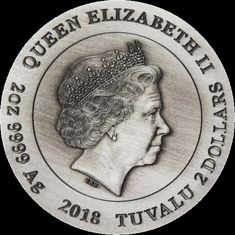 Тувалу монеты в серии Война, 2018 год, аверс