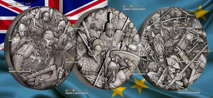 Тувалу монеты в серии Война