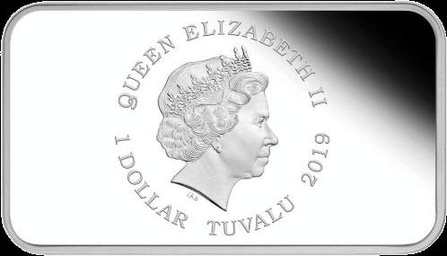 Тувалу серия монет Год Свиньи 2019, аверс