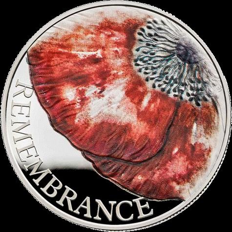 Великобритания монета 5 фунтов День памяти 2018, реверс