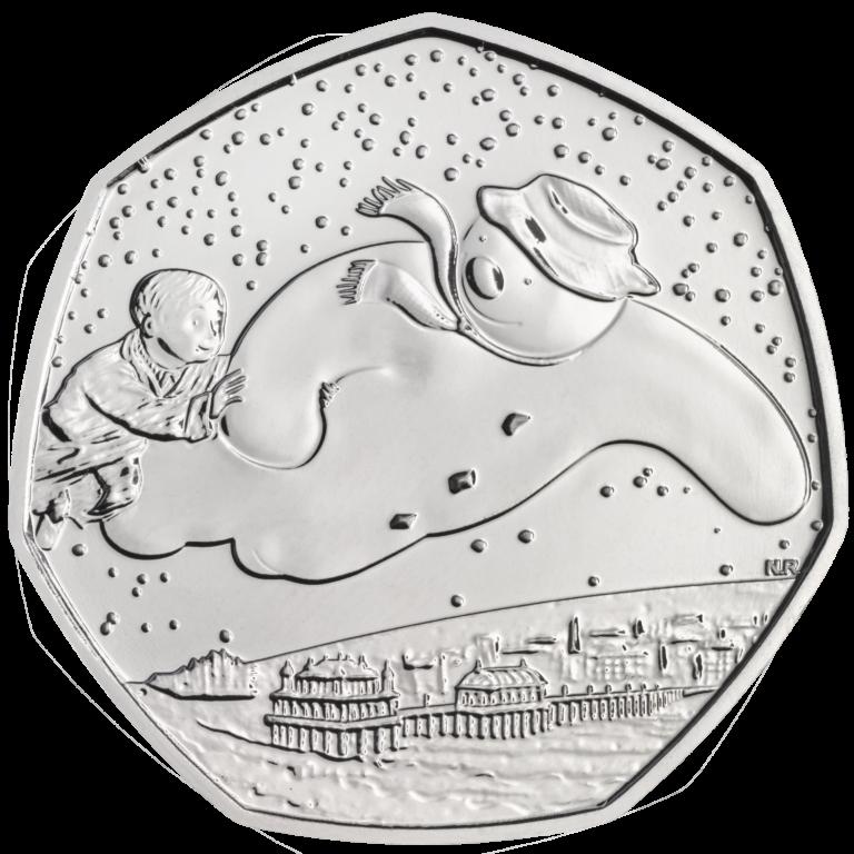 Великобритания монета 50 пенсов Снеговик, реверс