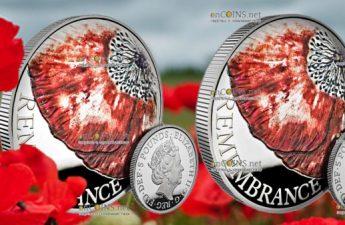 Великобритания серия памятных монет 5 фунтов День памяти 2018