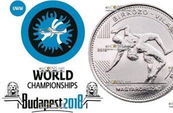 Венгрия монета 50 форинтов Чемпионат мира по борьбе