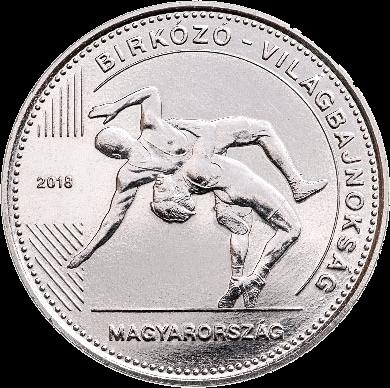 Венгрия монета 50 форинтов Чемпионат мира по борьбе, реверс