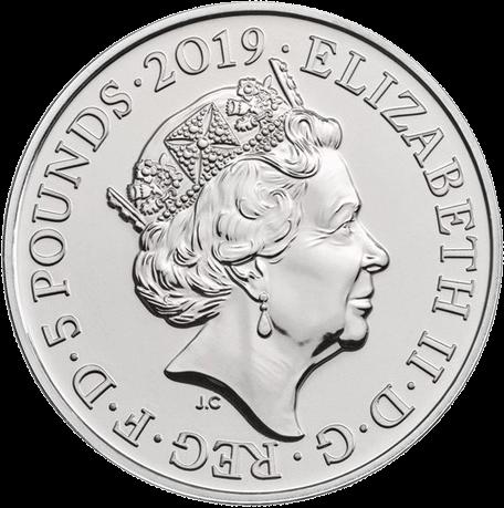 Англия серия Лондонский Тауэр монета 5 фунтов, медно-никелевый, аверс