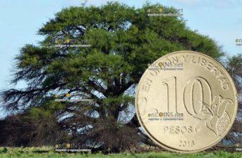 Аргентина ходовая монета 10 песо