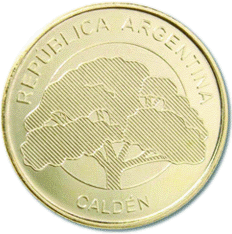 Аргентина ходовая монета 10 песо, реверс
