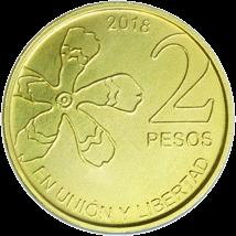 Аргентина ходовая монета 2 песо, аверс