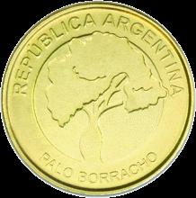 Аргентина ходовая монета 2 песо, реверс