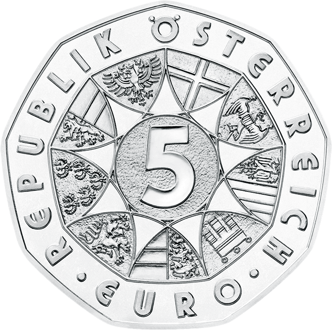 Австрия монета 5 евро, аверс
