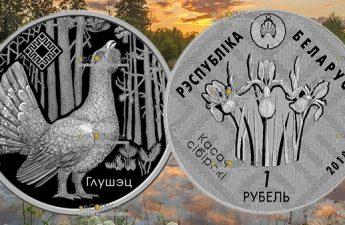 Беларусь монета 1 рубль Заказник Котра