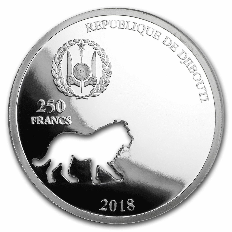 Джибути монета 250 франков Лев, аверс