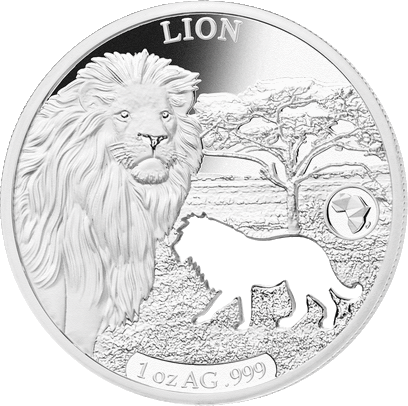 Джибути монета 250 франков Лев, реверс