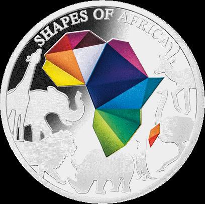 Джибути монета 250 франков Силуэты Африки, реверс