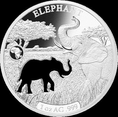 Джибути монета 250 франков Слон, реверс