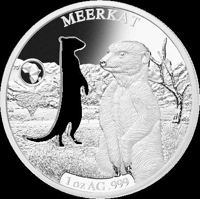 Джибути монета 250 франков Сурикат, реверс