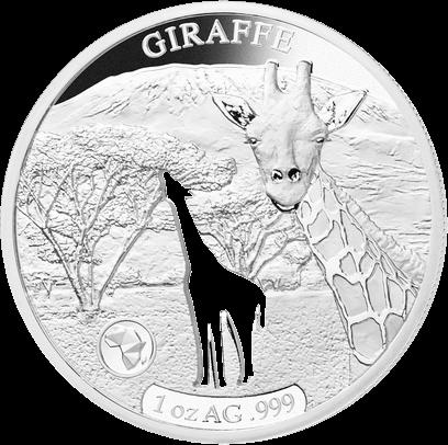 Джибути монета 250 франков Жираф, реверс
