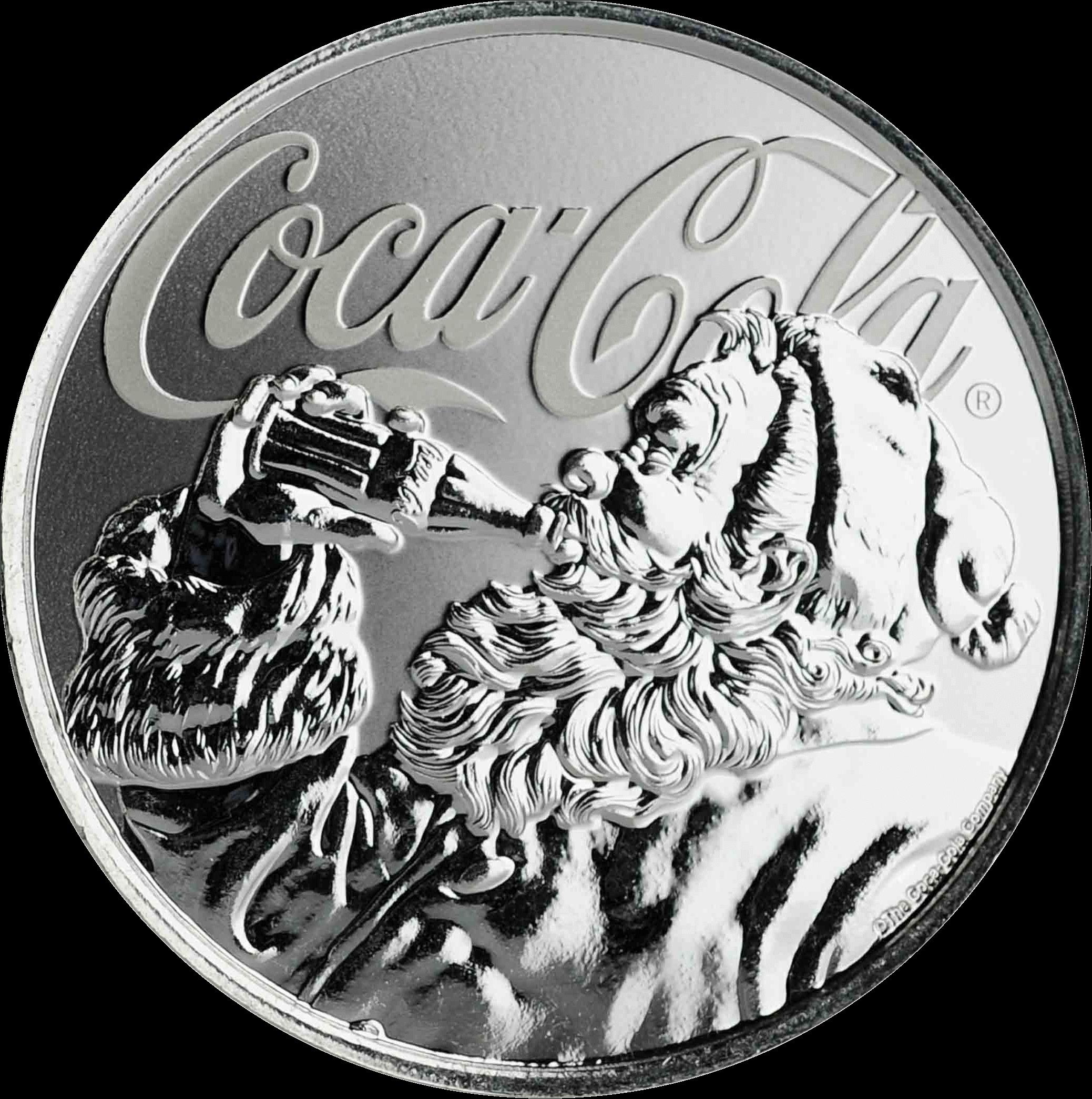 Фиджи монета 1 доллар Кока-Кола Праздничная монета, реверс